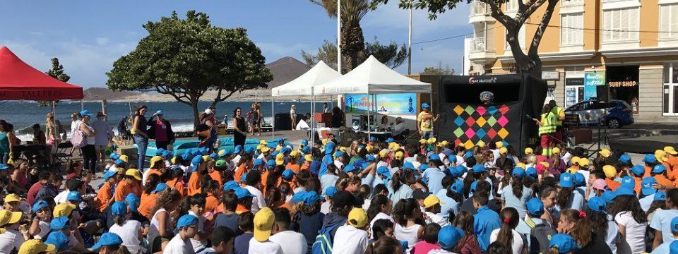 Más de 600 escolares celebraron, con Sermugran en El Médano, el Día Mundial del Medio Ambiente